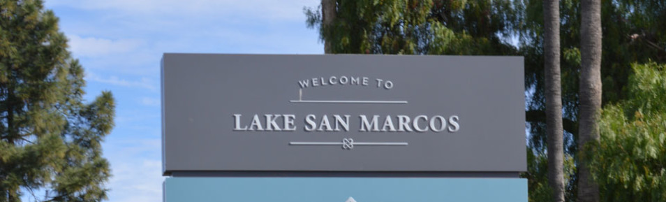 Photo Lake San Marcos Sign